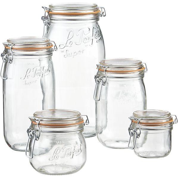 Le Parfait French Hermetic Glass Terrines Le Parfait Glass Food Storage Bulk Food Storage Containers