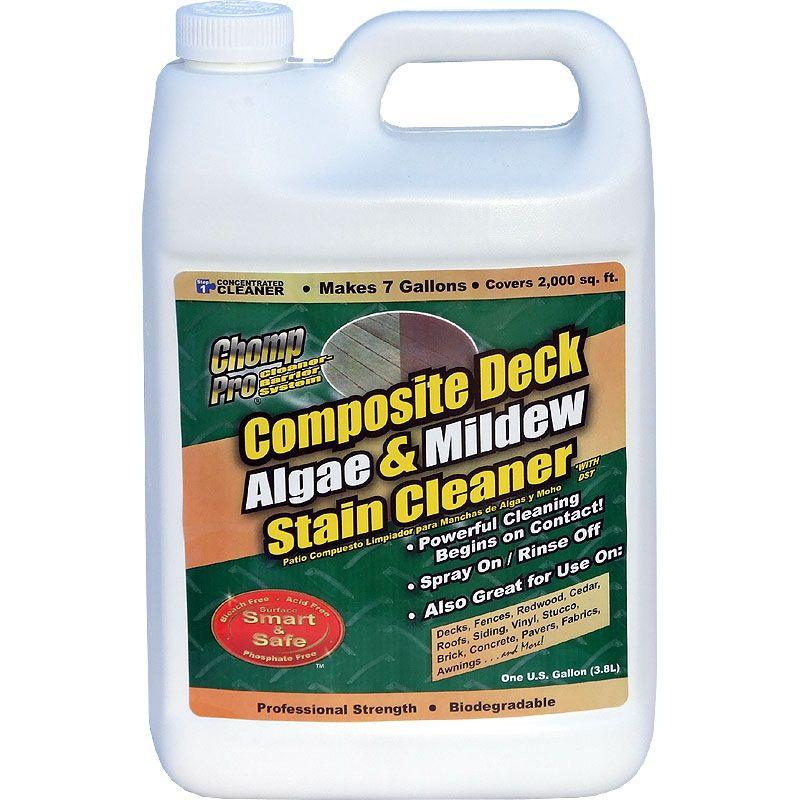 Chomp Composite Deck Algae Mildew Cleaner Conc Gallon Wood Deck Cleaner Composite Decking Cleaning Composite Decking
