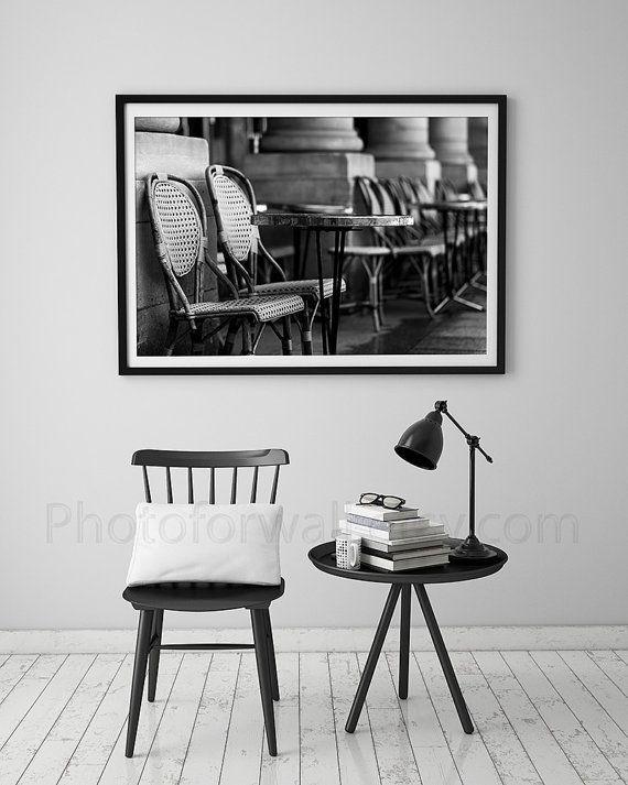 paris bedroom decorblack and white paris photographycafe chairs decorpersonalized home - Black Cafe Decor