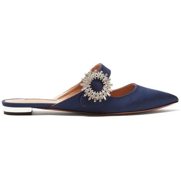 Aquazzura Crystal Blossom embellished backless loafers Supply For Sale Buy Cheap Buy Buy Cheap Pay With Paypal Best Sale Cheap Price E9R5cJiDB