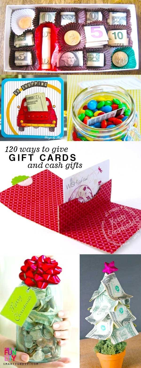 120 Creative Ways To Give Gift Cards Or Money Gift Cards Money