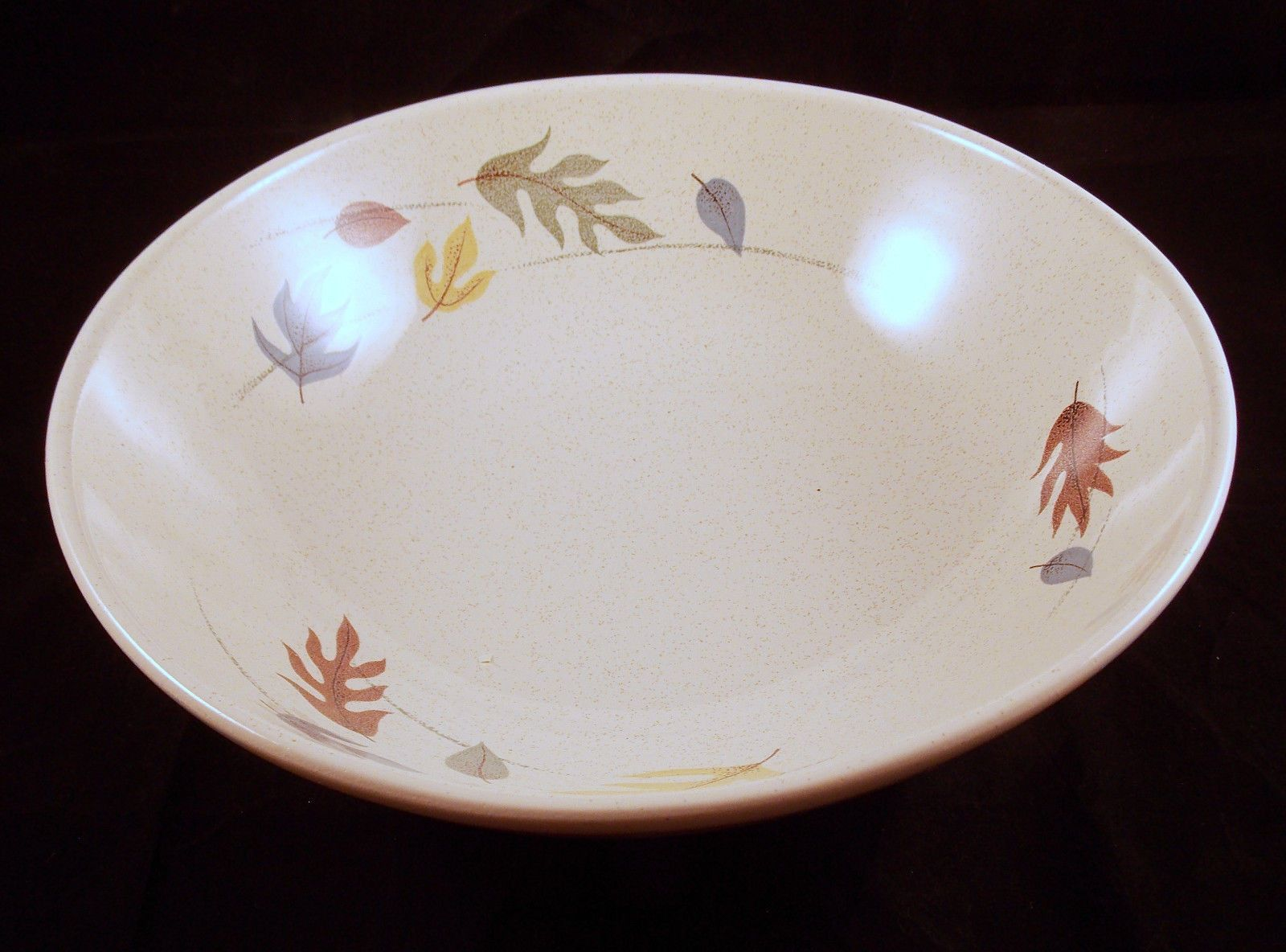Vintage Franciscan Serving Bowl 9 Inch Round Autumn Leaves Earthenware