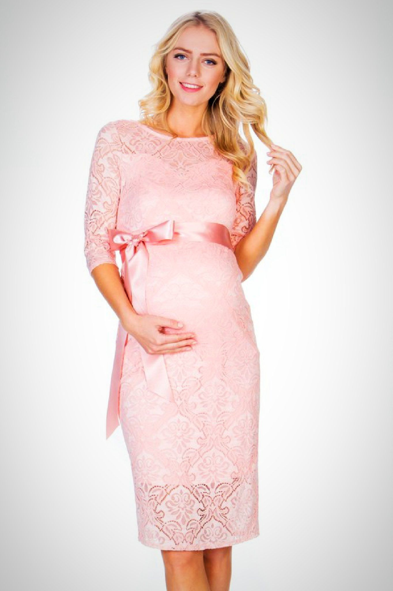 Pink Lace Maternity Dress In 2019 Maternity Dresses