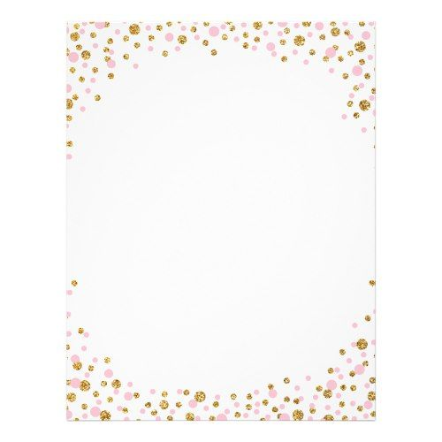Gold Glitter and Pink Sprinkle Confetti Zazzle Pink Birthday