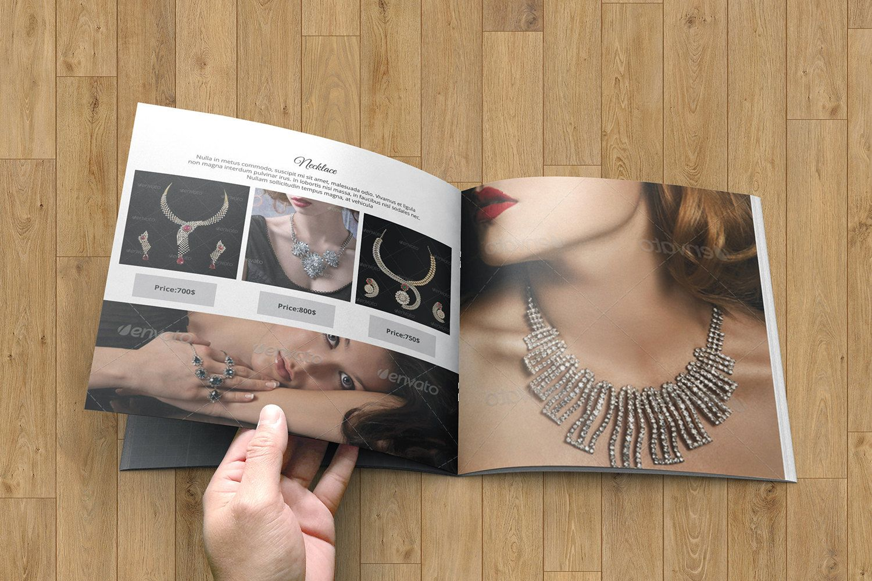 Jewellery Catalog Template Product Display Brochure Photoshop