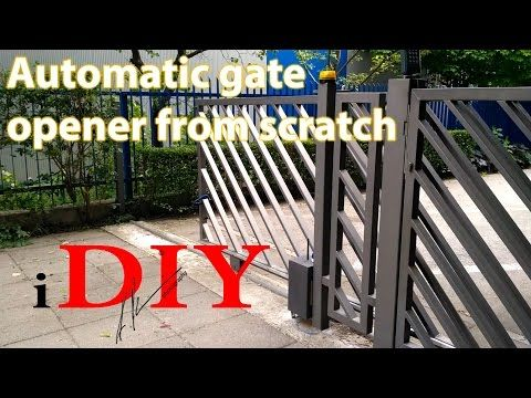 DIY Arduino automatic gate opener for under 50$ - YouTube