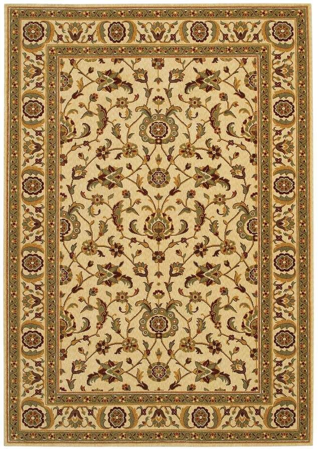 Couristan Royal Brentwood Luxury Framed Floral Wool Rug In 2019 Products Rugs Wool Area Rugs Beige Area Rugs