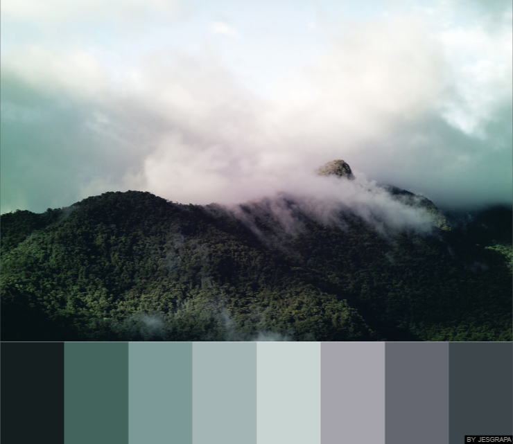 Dreamy Bedroom Color Palettes: Mountain Clouds #color #palette #colorpalettes In 2019