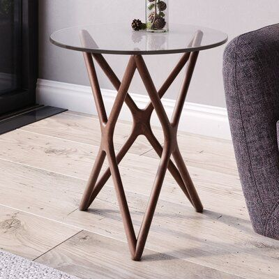 Modern Rustic Interiors Conner End Table Table Base Color Ash