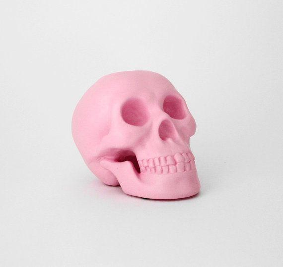 Skull, Candle Holder, Human Skull,Pink Skull, Skull Decor, Skull Candle, Wedding Decor, Skulls, Hodi Home Decor, Skulls, Human Skull, Skulls