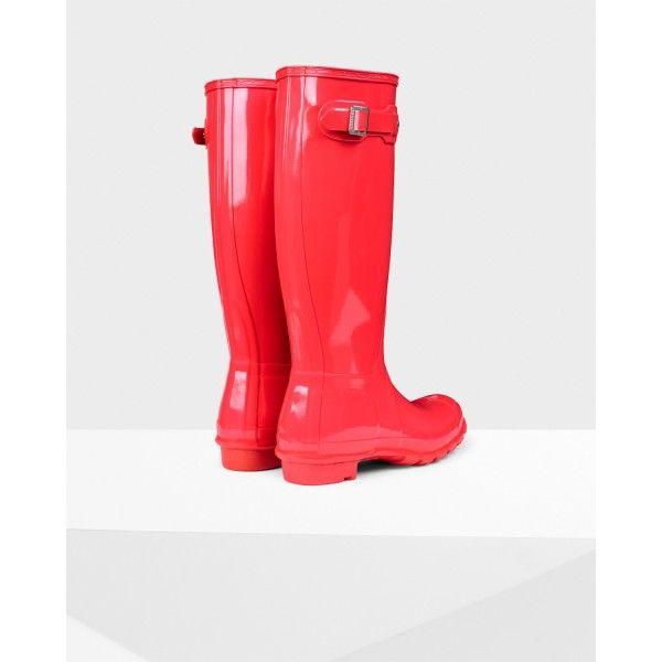 Hunter Women's Original Tall Gloss Wellington Boots Bright ...