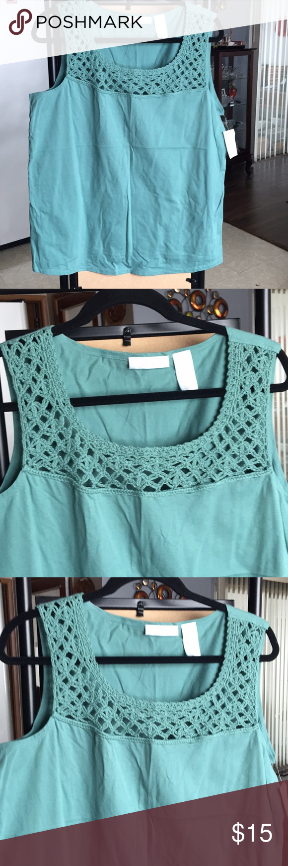 35997087c30 Women  s top NWT. Cute sleeveless top. Perfect for spring   summer.  Measurements(lay flat) Armpit to armpit- 22