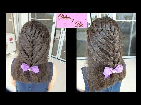 peinados faciles y bonitos   peinado para cabello largo - YouTube