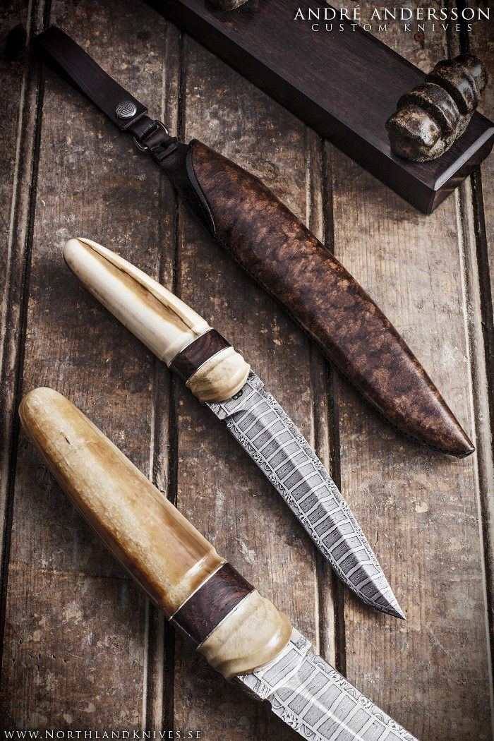 André Andersson Custom Damascus Knives Knives Daggers Swords And