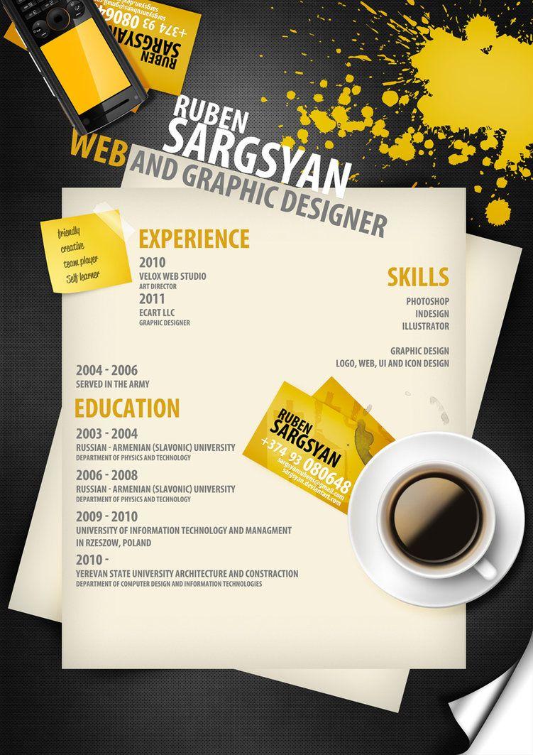 CV by sargsyan on DeviantArt | Siukslinelis | Pinterest