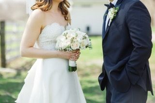 (Photo courtesy of Katherine Murray Photography) #blacktie #slimfittux #bride #groom #weddingpics #blacktie #bowtie #wedding #2016