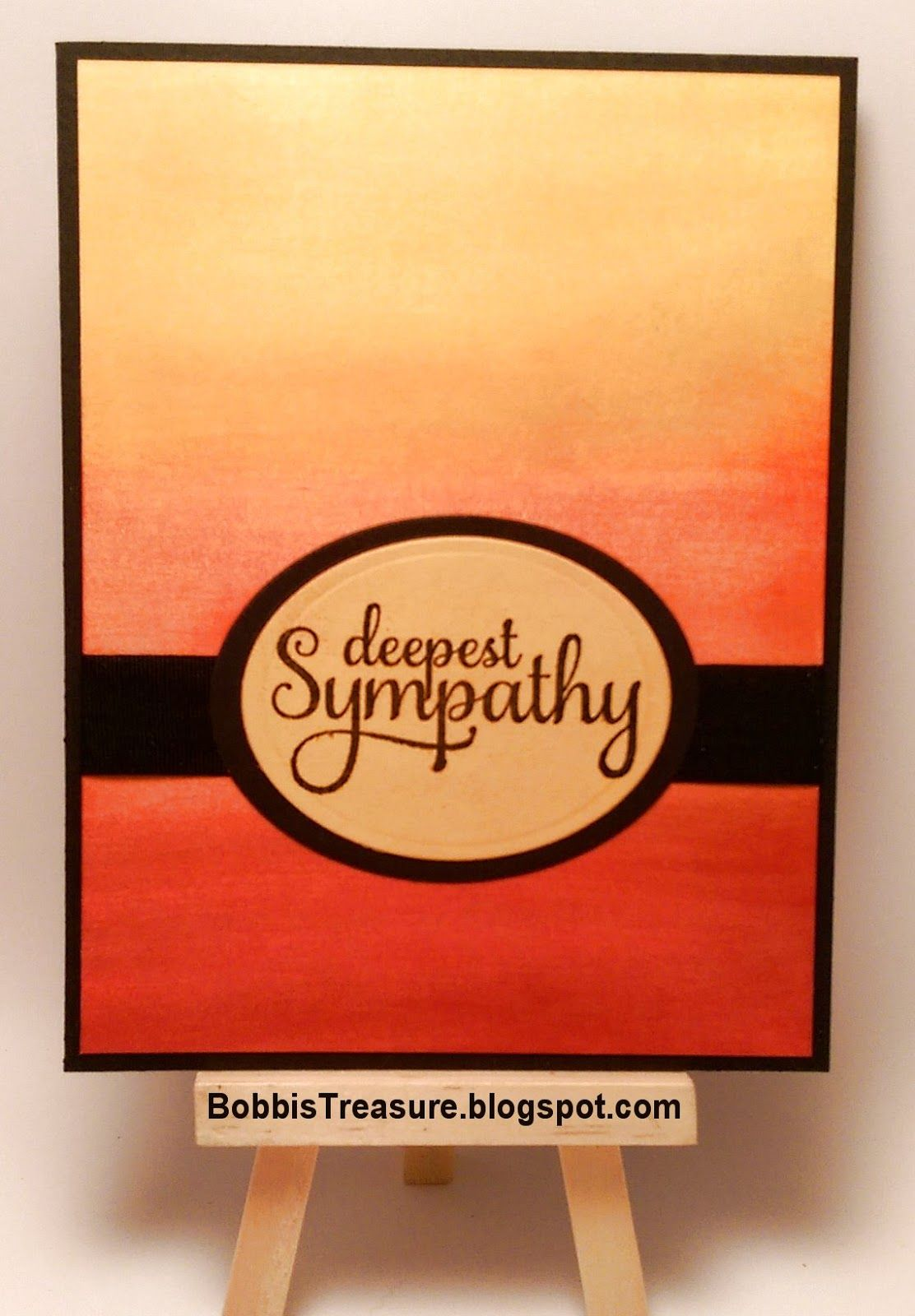 Bobbi's Treasure: Less is More #227 - Sunset ombre sympathy card