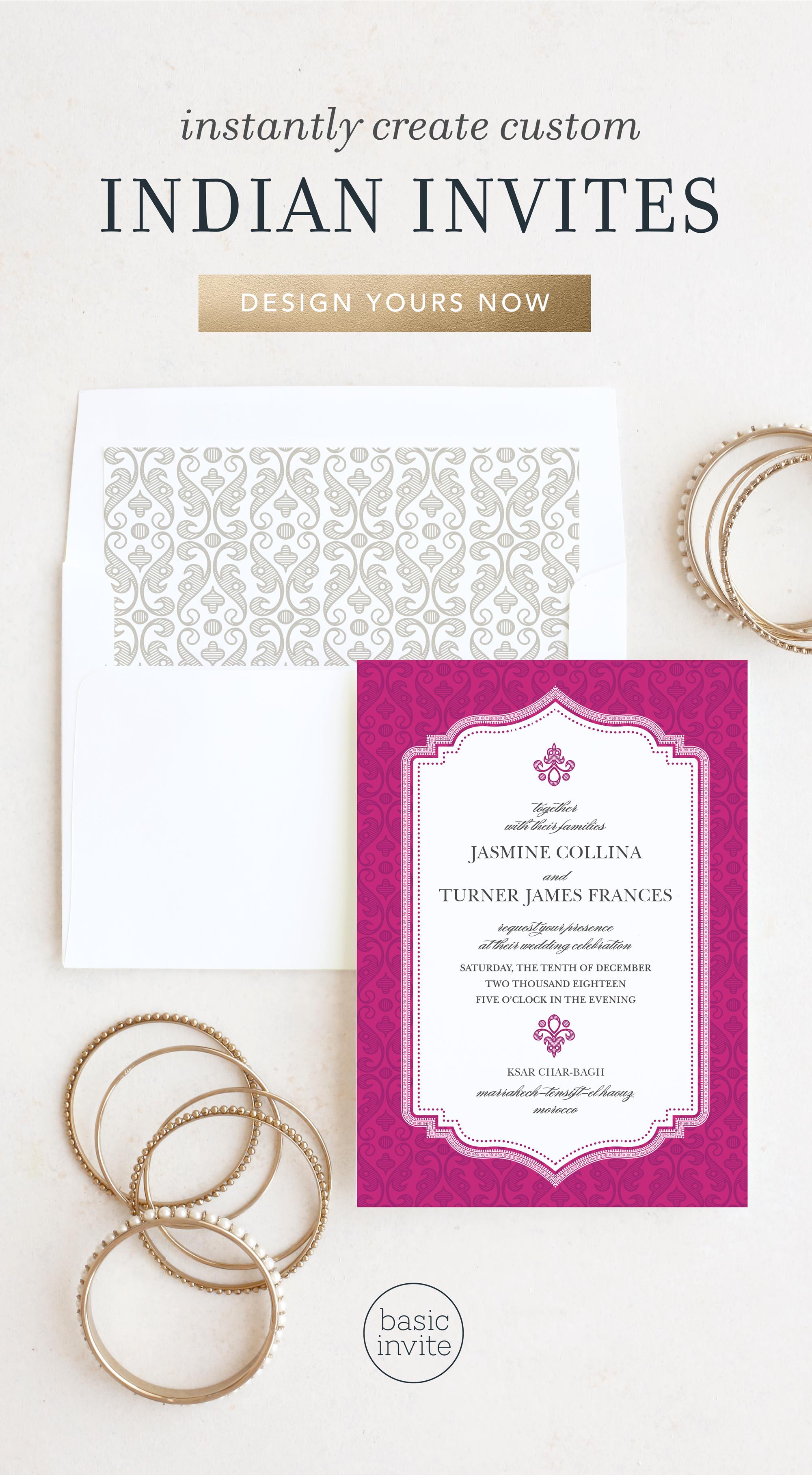 Indian Wedding Invitations in 2020 Indian wedding