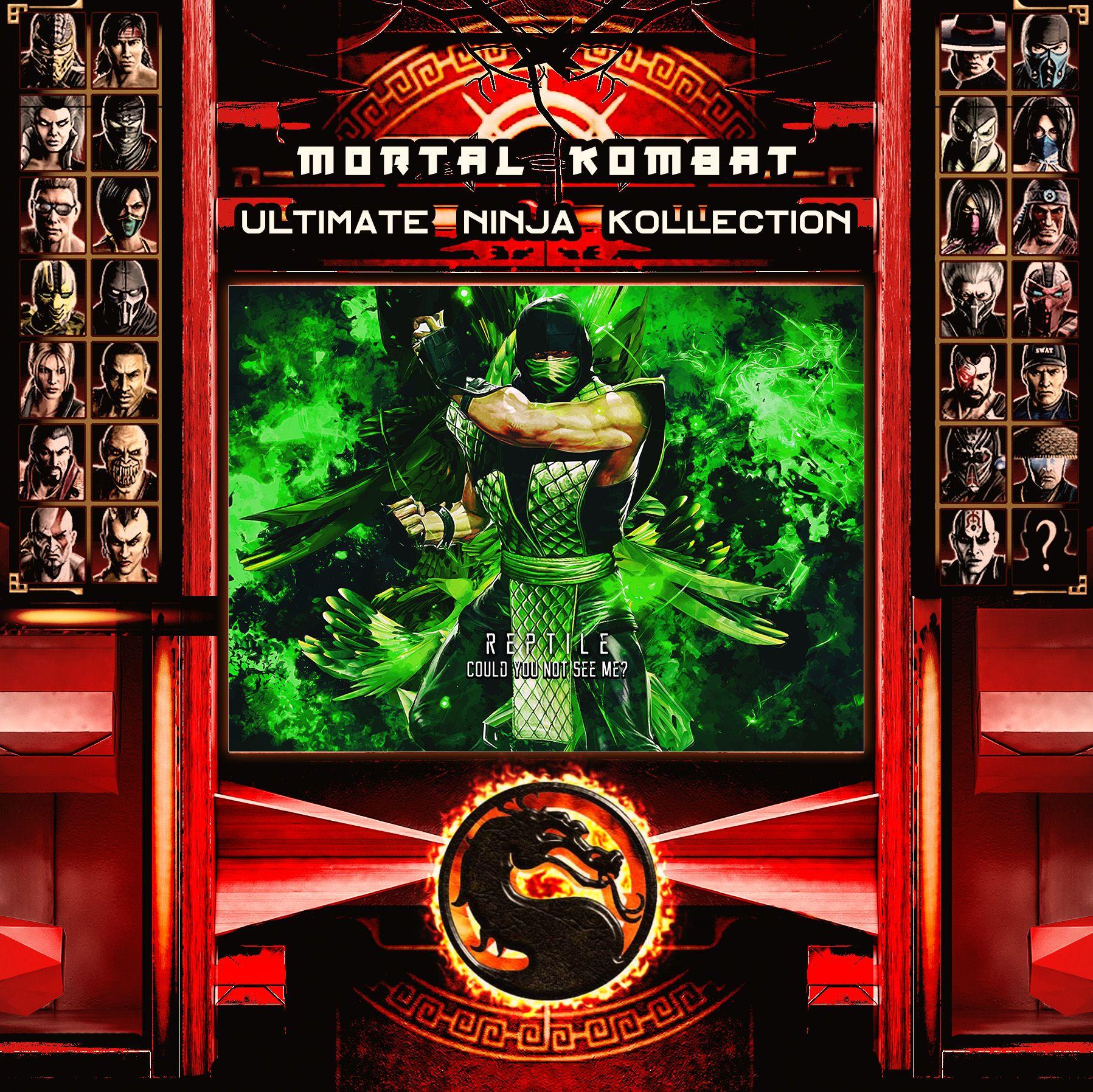 Mortal Kombat Ultimate Ninja Collection Reptile Metal Print | Displate thumbnail