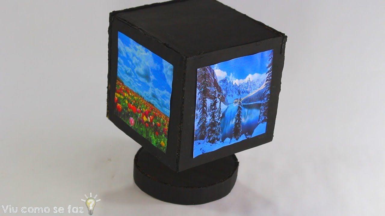 Awesome rotating photo frame diy from cardboard diy