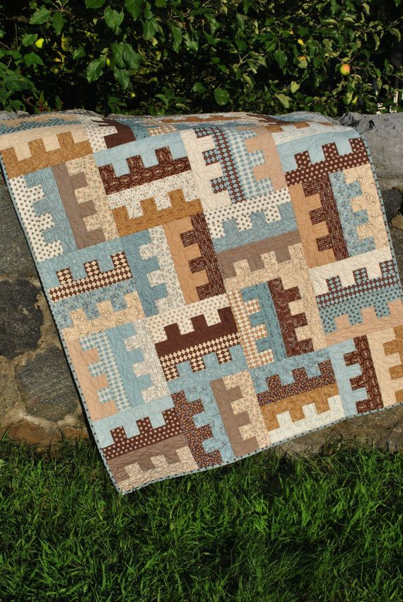 Patchwork Quilt Lap QUILT or Twin Coverlet pattern by sweetjane, $185.00
