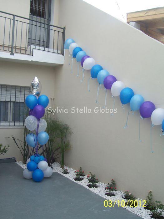 Bautismo en violeta,celeste,azul y blanco