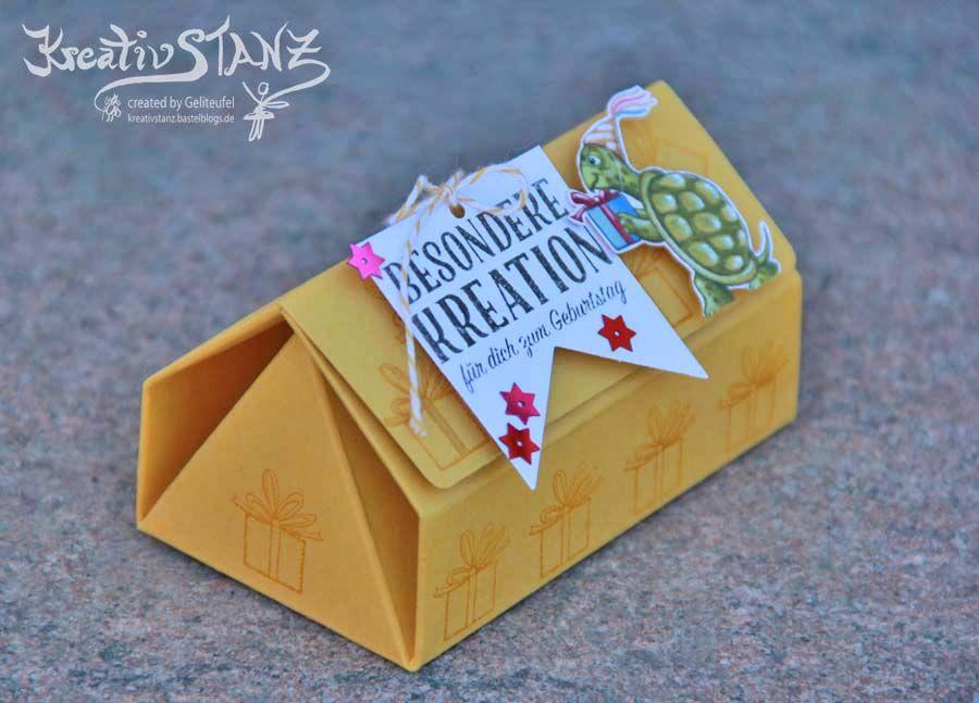 origami haus box stampinup origami box falten und kleine geschenke basteln. Black Bedroom Furniture Sets. Home Design Ideas