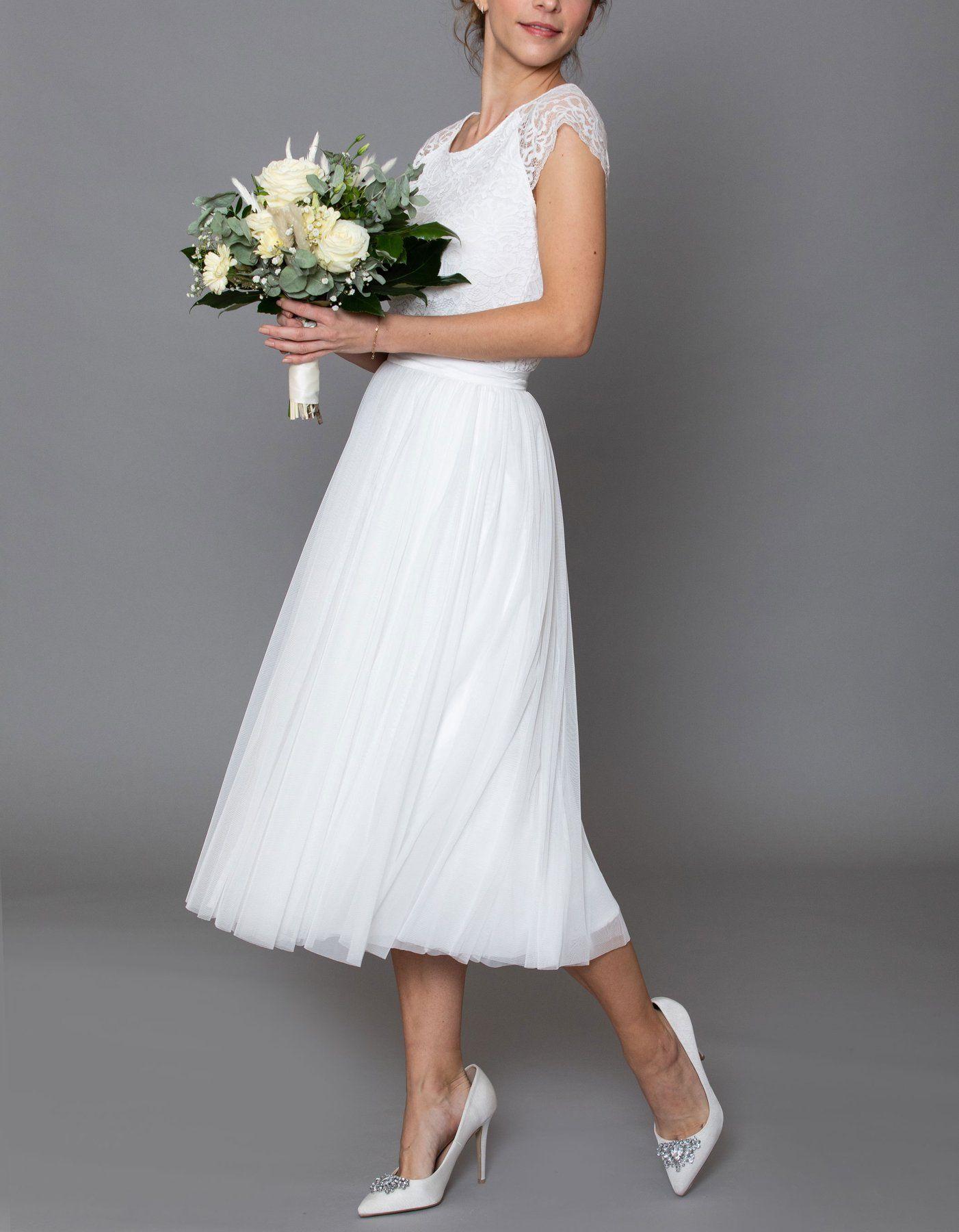 CONSTANT LOVE Tüll Rock Braut Midi in 20  Hochzeitskleid