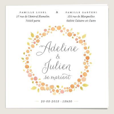 Faire-part de mariage : Nectar • www.dioton.fr