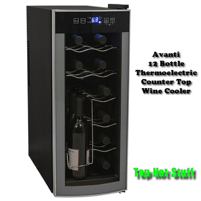 Avanti 12 Bottle Thermoelectric Countertop Wine Cooler Fridge Model Ewc1201 Visit Our Store On Ebay Thermoelectric Wine Cooler Wine Cooler Wine Refrigerator