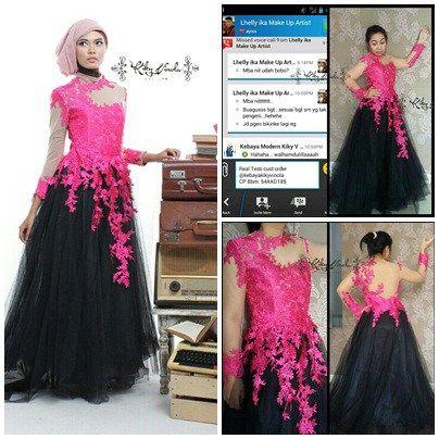 gaun pesta terbaru warna hitam by  kebayakikyvinola penjahit kebaya di  semarang Mau jahit baju online 4134554312