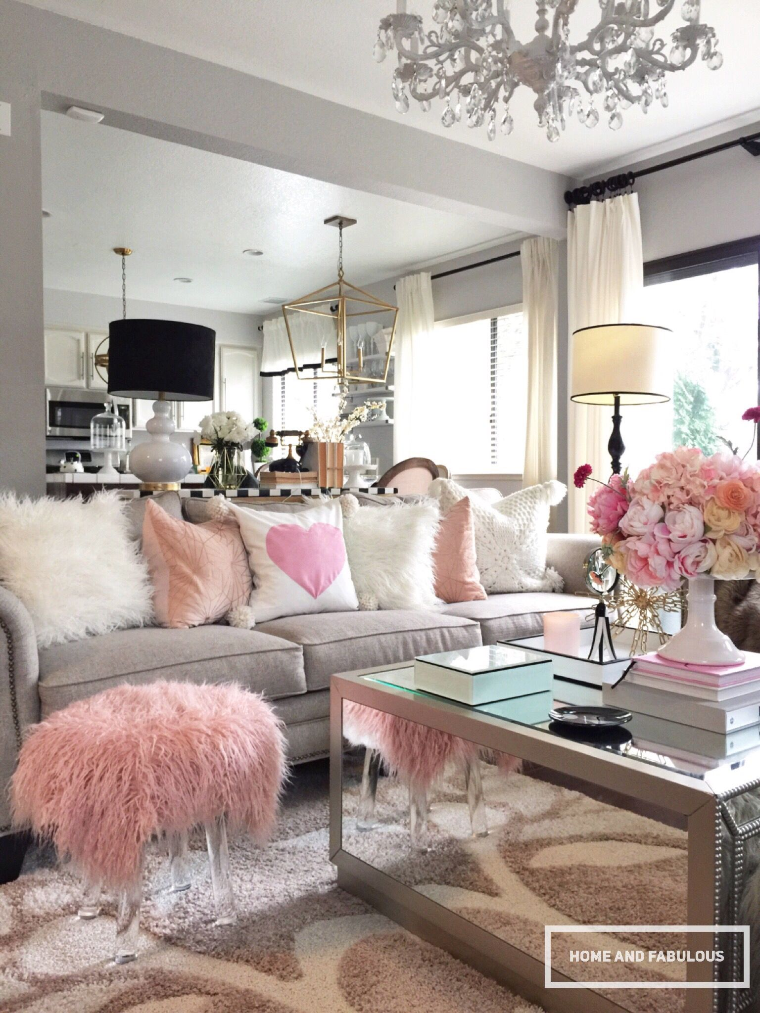 Pink Living Room Design: SIMPLE STYLING IDEAS, VALENTIN DAY EDITION