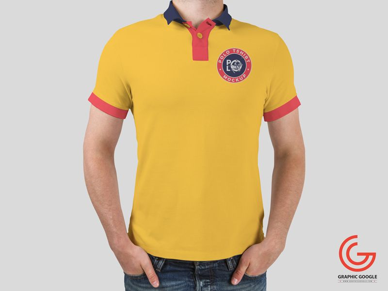 Download Free Man Wearing Polo T Shirt Mockup Shirt Mockup Free T Shirt Design Shirts
