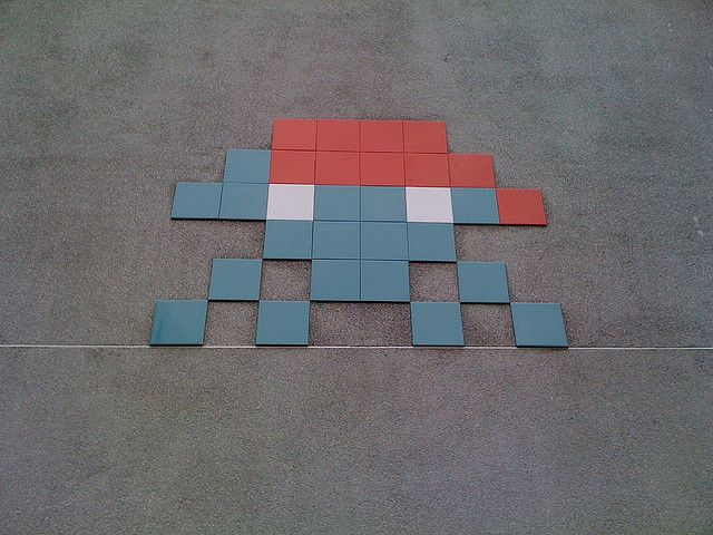 Green Space Invader by rob_s_williams, via Flickr