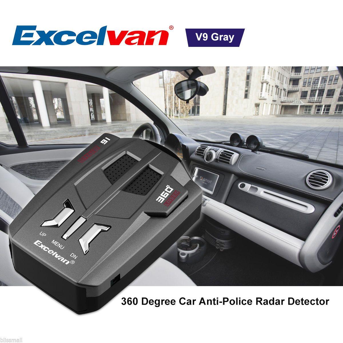 16 Band 360° Auto Voice Alert Warning Car Trucker GPS Speed Laser Radar Detector