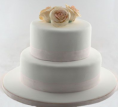 Two Tiered Wedding Cake I Love The Look Of This But Instead
