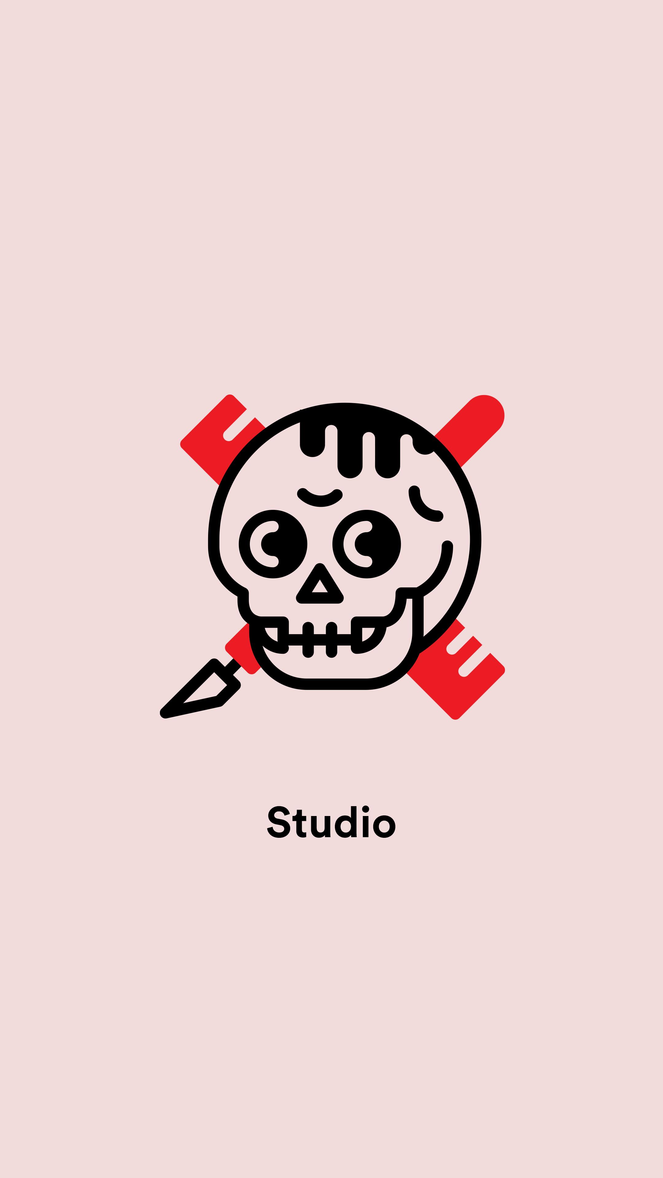 Office Signage For Lola Mullenlowe Paris Illustration Icondesign Studio Production Skull Signage Design Signage Office Signage