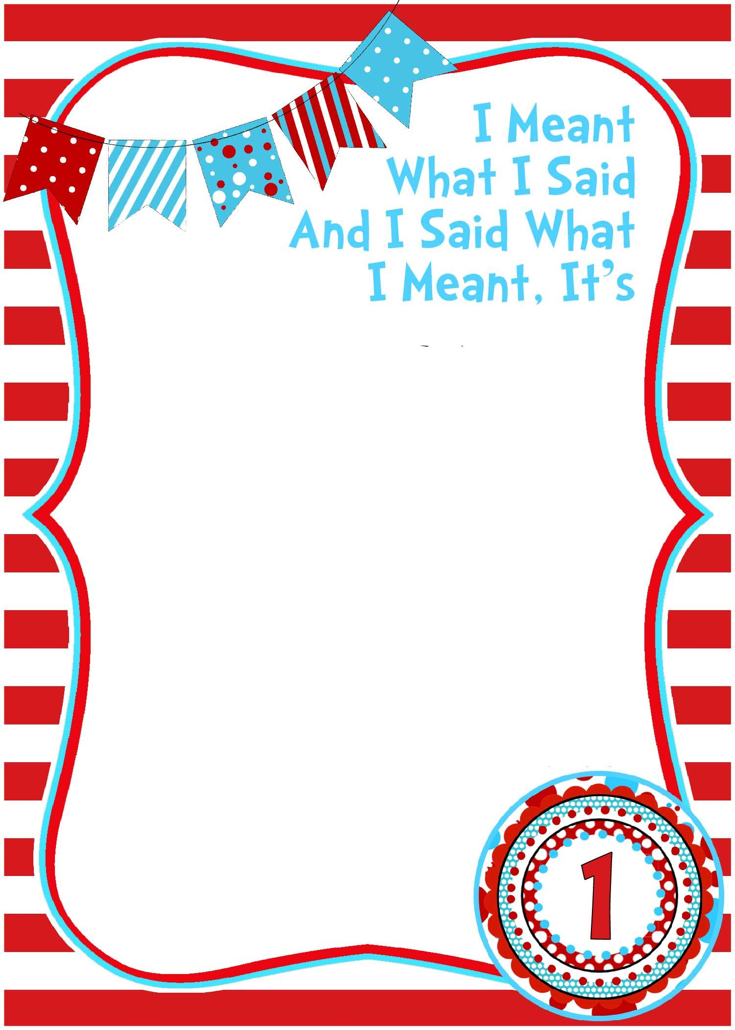 Free Printable Dr Seuss Birthday Invitations | Free Printable ...