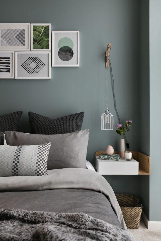Blau & Grau - zwei wirklich starke und kräftige Farben, die sich im ...
