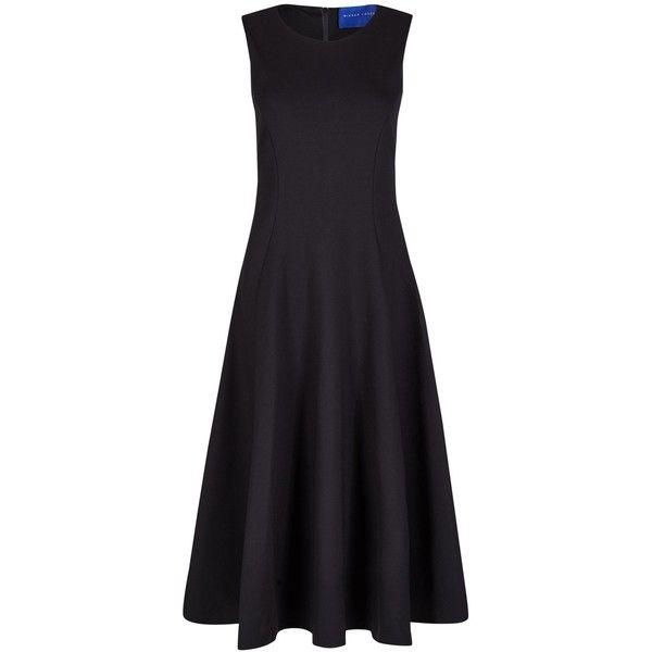 Winser London Full Circle Skirt Dress , Black ($125) ❤ liked on Polyvore featuring dresses, gowns, black, evening cocktail dresses, cocktail dresses, evening gowns, skater skirt and midi dress