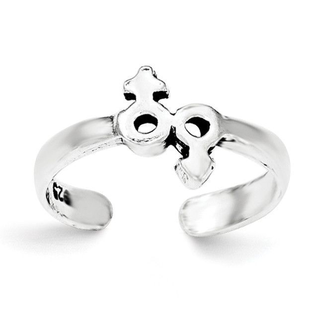 Sterling Silver Male/Female Symbol Toe Ring QR6043