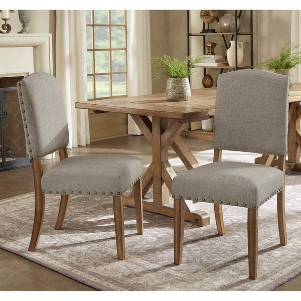 Benchwright Premium Nailhead Upholstered Dining Chairs (Set of 2) by