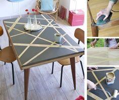 Relooker Une Table Avec Des Effets Graphiques Home Decor Furniture Table