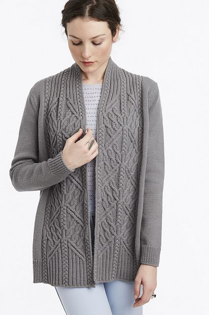 Knitting Summer Sweater Patterns : Vogue knitting spring summer  arbor cardigan