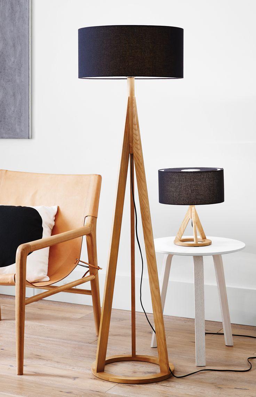Jacob Floor Lamp In Oak Black Wood Floor Lamp Wooden Floor Lamps Diy Floor Lamp