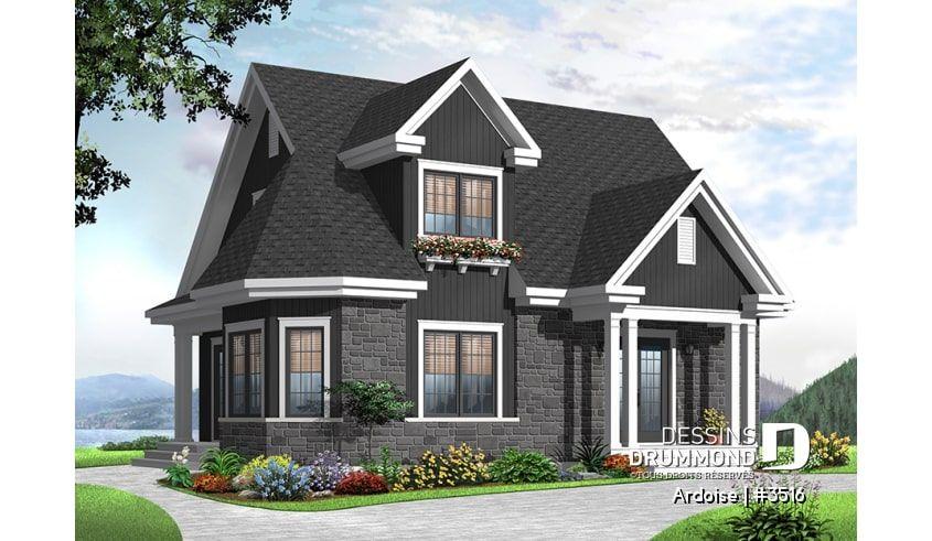 Plan de maison unifamiliale Ardoise No. 3516   Plan maison, Plan de maison unifamiliale et ...
