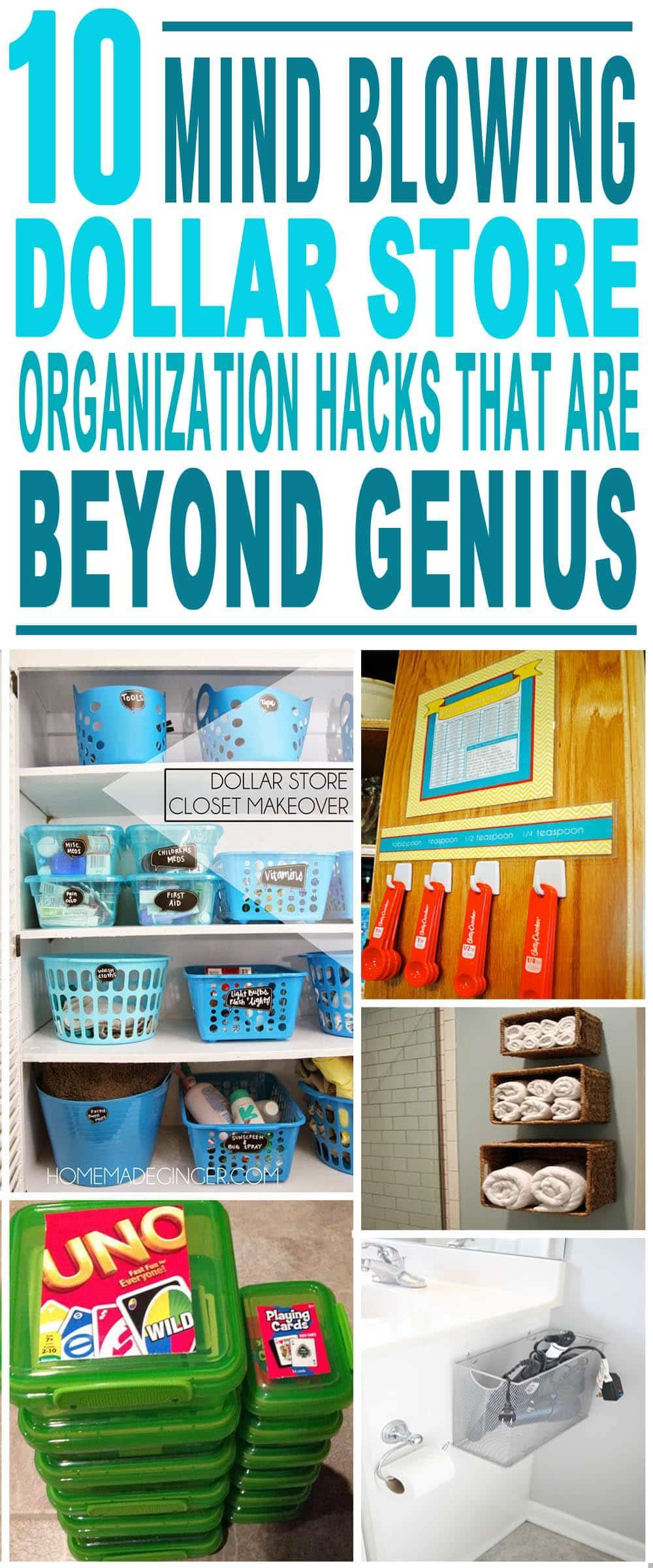 These Are The Most Amazing Dollar Store Organizing Hacks Glad To Have Found These Great Dollar Store Diy Hacks Pinning For Sure Kendin Yap