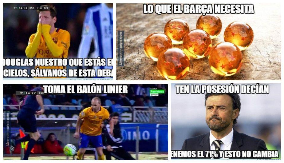 Barcelona Vs Real Sociedad Mira Los Mejores Memes De La Derrota Blaugrana April 11 2016 Real Madrid Barcelona Champions League