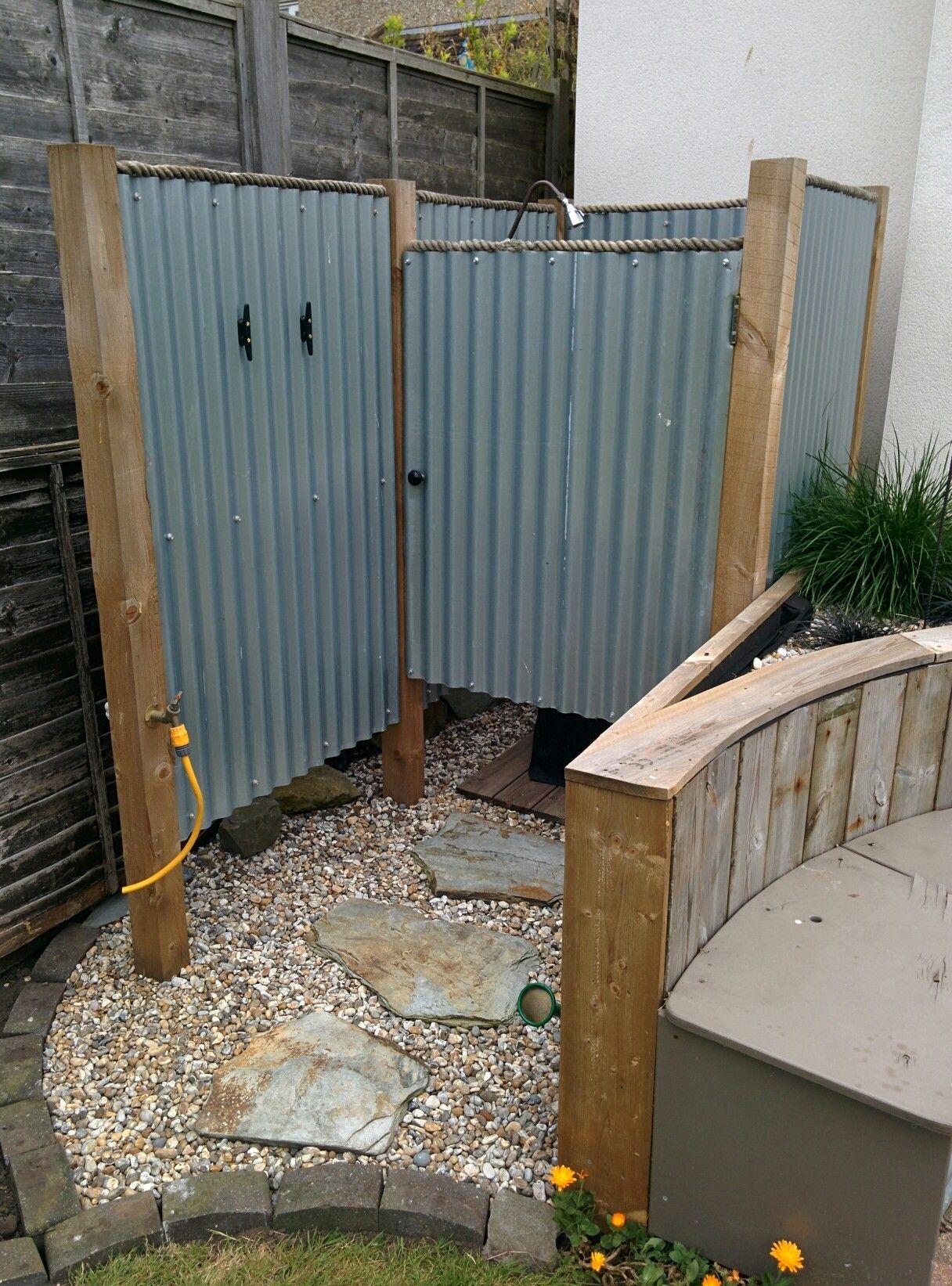 Outside Shower At The Beach House Modern Beach Decor Rustic
