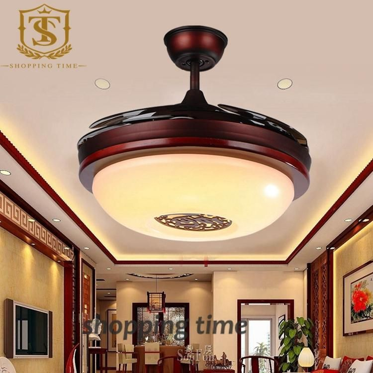 Chinese style small 32 inch ceiling fan light dining room invisible chinese style small 32 inch ceiling fan light dining room invisible blades hanging fan lamp y3204 aloadofball Image collections